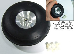 Шкала сплава ступица резиновые колеса 4.0inch