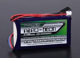 Turnigy нано-технологий 2100mAh 2S1P 20C LiFePo4 передатчик Pack (Futaba T14SG & 4PK)