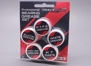 Trackstar Профессиональная смазка для подшипников Комплект [5g х 5]