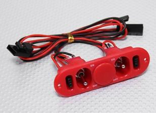 Тяжелое переключатель Обязанность RX Твин с портом зарядки и топливом Dot Red