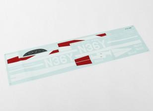 Durafly ™ Monocoupe 1100мм - замена наклейка