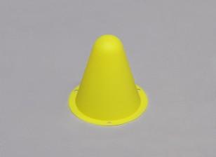 Пластиковые Гонки Конусы для R / C Car Track или Дрейф курс - Желтый (10pcs / мешок)