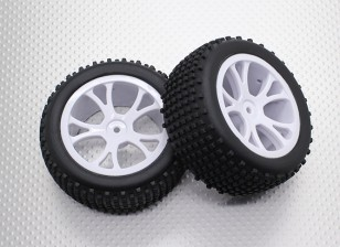 Задний Багги шин Set (Split 5-спицевые) - 1/10 Quanum Вандал 4WD Гонки Багги (2 шт)