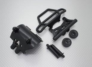 Quanum Skull Crusher 2WD - бампер комплект, wheeliebar с рычажной пластины