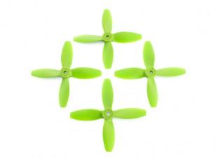 Lumenier FPV Гонки пропеллеры 4040 4-Blade Green (CW / CCW) (2 пары)