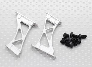 1/10 Алюминиевый CNC Tail / Крыло поддержки Рама-Large (серебро)