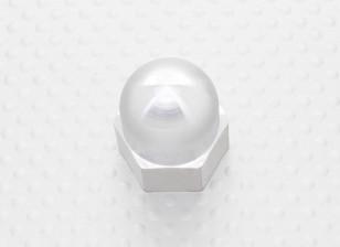 19мм сплава Prop Nut / Spinner Suites 5 мм резьбы (анодированный серебро)