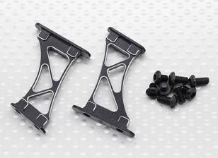 1/10 Алюминиевый CNC Tail / Крыло поддержки Рама-Large (черный)