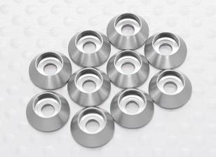 Sockethead Шайба анодированный алюминий M3 (серебро) (10шт)