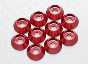 Sockethead Шайба анодированный алюминий M3 (красный) (10шт)
