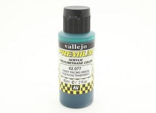 Вальехо Премиум Цвет Акриловые краски - Candy Racing Green (60мл)
