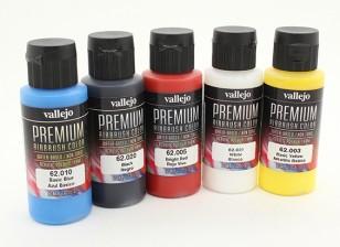Вальехо Премиум Цвет Акриловые краски - Основные Непрозрачный Выбор (5 х 60 мл)