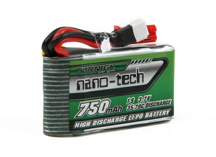 Turnigy нано-технологий 750mAh 1S 35-70C Липо Pack (Walkera V120D02S / QR Infra X / QR-W100S)