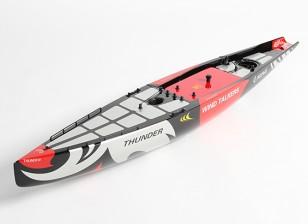 Стекловолокно RC яхты Парусник Thunder - Халл (Включает в себя два сервоприводы)