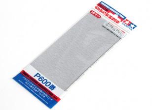 Tamiya Отделочные Wet / Dry наждачная бумага P600 Grade (3шт)