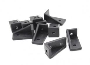 RotorBits 20x10 Правый угол Кронштейн RH (черный) (10шт / мешок)