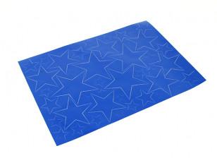 Звезда Pattern самоклеющиеся Декаль Набор 420 х 300 мм (синий) (1шт)