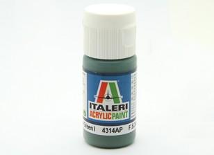 Italeri Акриловая краска - Flat Medium Green 1