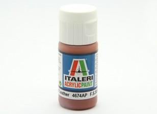 Italeri Акриловая краска - Плоский кожаный
