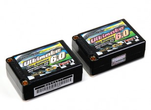 Turnigy нано-технологий Окончательный 6000mAh 2S3P 90C Hardcase Липо Седло Pack (ЕДОР & BRCA Approved)