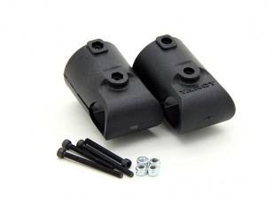 Таро T810 и T960 25 мм до 16 мм Шасси T Адаптер Kit (2 шт)