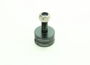 CNC алюминиевый M6 Quick Release самозатягиванием Prop Adapter Set - титан (против часовой стрелки)
