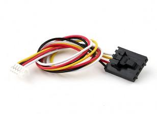 200мм 5 Pin Molex / JR 6 Pin белый разъем Lead