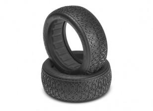 JCONCEPTS Dirt Полотна 1 / 10th 4WD багги 60мм передних шин - Silver (Крытый Super Soft) Соединение