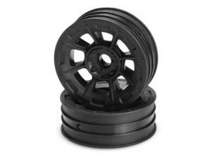 JCONCEPTS опасности 1/10-я Buggy передний колесный диск - черный
