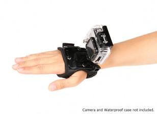 Регулируемая перчатка крепление для GoPro или TURNIGY кулачков действий (Small)