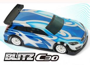 БЛИЦ-C30 1/10 Mini или 1/12 EP высокой крышей Седан Shell кузова (210мм) (0,8мм)