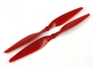 Аэростар композитный пропеллер 14x5.5 Красный (CW / CCW) (2 шт)