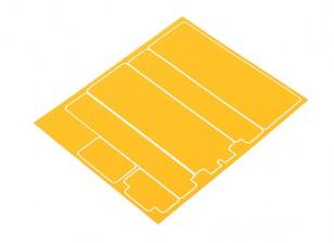 Trackstar Декоративные Крышка батарейного отсека Панели для стандартной 2S Hardcase Желтый углерода Pattern (1 шт)