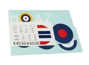 Durafly ™ Spitfire Mk1a Декаль Set