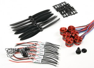 DYS 1806 2300KV Motors ж / 20а ESC-х и 6x4.5 Пропеллер Combo