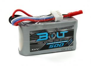 Turnigy Болт 500mAh 3S 11.4V 65 ~ 130C высокого напряжения LiPoly Pack (LiHV)