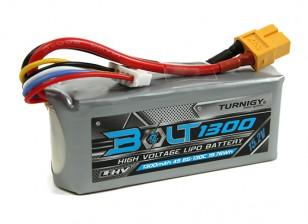 Turnigy Болт 1300mAh 4S 15.2V 65 ~ 130C высокого напряжения LiPoly Pack (LiHV)