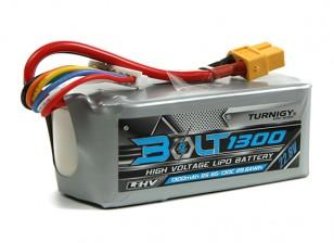 Turnigy Болт 1300mAh 6S 22.8V 65 ~ 130C высокого напряжения LiPoly Pack (LiHV)
