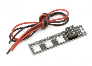 3 RGB LED Board Цвет 7 с выключателем 5V
