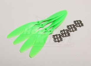 GWS Стиль Slowfly Пропеллер 9x4.7 Зеленый (CW) (4шт)