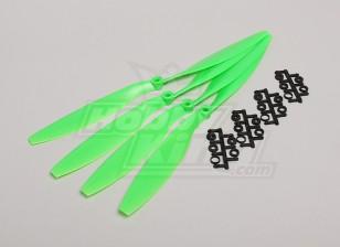 GWS Стиль Slowfly пропеллер 12x4.5 Зеленый (CW) (4шт)