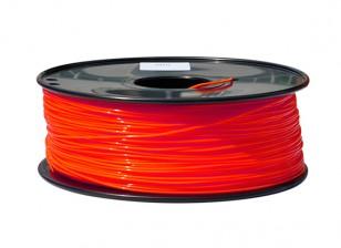 HobbyKing 3D Волокно Принтер 1.75mm PLA 1KG золотника (люминесцентная красный)