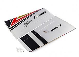 Основное крыло вкл краска / stickers.carbon шпата