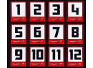 Trackstar Racing Number Vinyl Decals (2 Sheets)