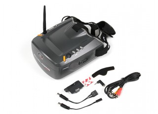 Quanum Cyclops V2 FPV Goggle w/ Integrated Monitor and 40ch Receiver plus accessories