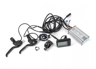 "E-Bike Conversion Kit for 26"" Bikes (PAS Front Wheel Drive) (36V/11A)  (US Plug) - screen and brakes"