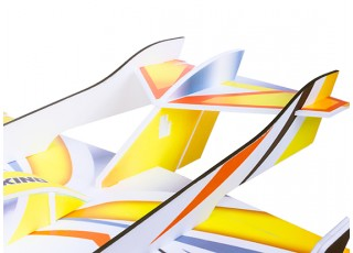 H-King Arctic Cat Water Plane - Glue-N-Go - Foamboard PP 820mm Yellow (Kit) - tail