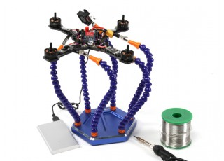 Turnigy Six Arm Soldering Station (w/USB Fan) - side view