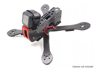GEP-AX5 Airbus FPV Racing Drone Frame 215 (Red) (Kit) - with Gopro