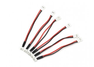Molex 2.0mm (F) 2pin to Molex 1.25 (M) 2pin Battery Adapter Cable (80mm) (6pcs)